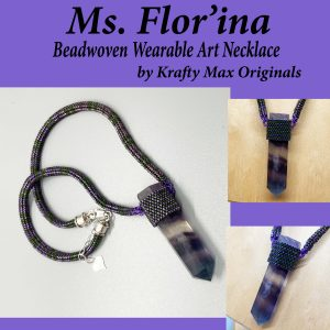 Ms Flor'ina Beadwoven Wearable Art Necklace
