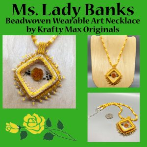 Ms Lady Banks Beadwoven Wearable Art Necklace