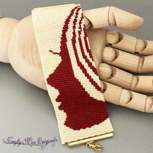Scarlet Lady Beadwoven Bracelet