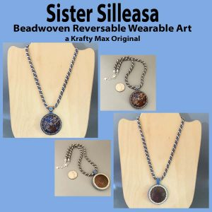 Sister Silleasa Beadwoven Reverable Wearable Art Necklace