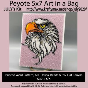 JULY Eagle 5×7 Art Kit