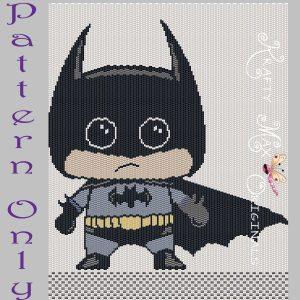 Batman Inspired 8×10 Kawaii Drawing Art PATTERN ONLY