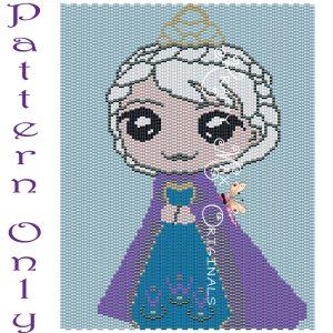 Elsa Inspired 5×7 Kawaii Drawing Art PATTERN ONLY