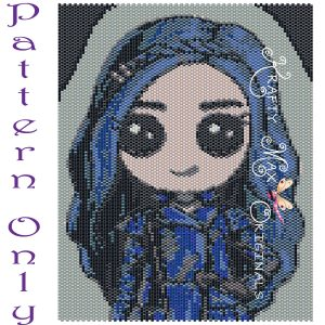 Evie Inspired 5×7 Kawaii Drawing Art PATTERN ONLY
