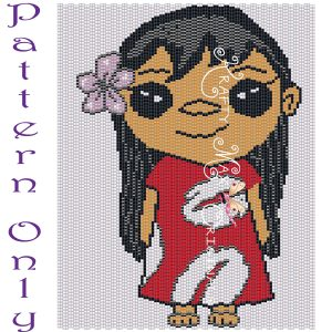Lilo Inspired 5×7 Kawaii Drawing Art PATTERN ONLY