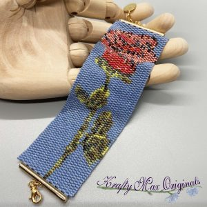 Long Stem Rose Sample Beadwoven Bracelet