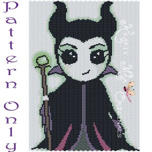 Maleficent Inspired 5×7 Kawaii Drawing Art PATTERN ONLY