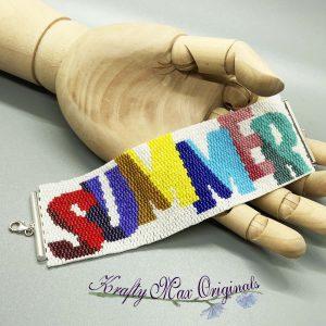 SUMMER Beadwoven Bracelet