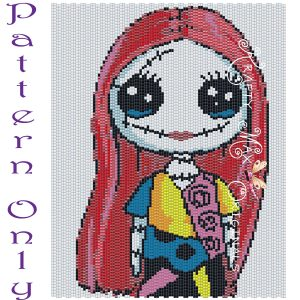 Sally Inspired 5×7 Kawaii Drawing Art PATTERN ONLY