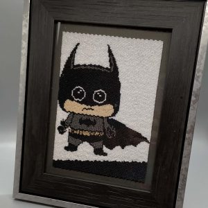Batman Beadwoven 5×7 Artwork by Krafty Max Originals