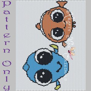 Dory and Nemo 5×7 Kawaii Drawing Art PATTERN ONLY