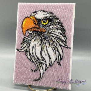 Eagle Beadwoven 5×7 Wall Art – Sample for July 2020 Kit