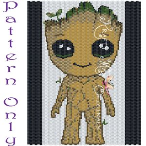Groot Inspired 5×7 Kawaii Drawing Art PATTERN ONLY