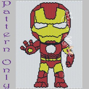 Ironman 5×7 Kawaii Drawing Art PATTERN ONLY