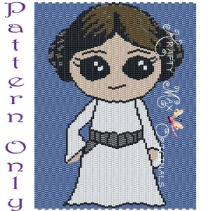 Leia 5×7 Kawaii Inspired Drawing Art PATTERN ONLY