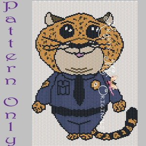 Officer Clawhauser 5×7 Kawaii Drawing Art PATTERN ONLY