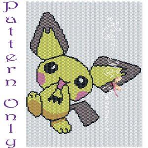 Pichachu 5×7 Kawaii Drawing Art PATTERN ONLY