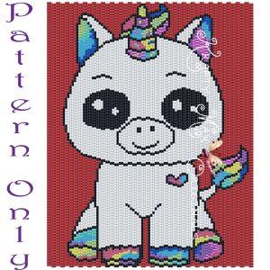 Rainbow Unicorn 5×7 Kawaii Drawing Art PATTERN ONLY