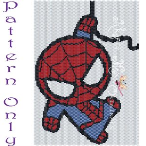 Spiderman 5×7 Kawaii Inspired Drawing Art PATTERN ONLY