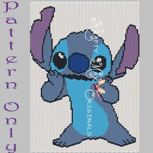 Stitch 5×7 Kawaii Drawing Art PATTERN ONLY