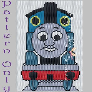 Thomas the Train 5×7 Kawaii Inspired Drawing Art PATTERN ONLY