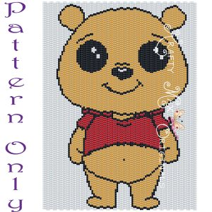 Winnie the Pooh 5×7 Kawaii Inspired Drawing Art PATTERN ONLY