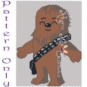 Wookie (Chewbacca) Inspired 5×7 Kawaii Drawing Art PATTERN ONLY