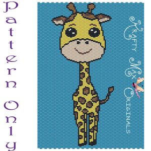 Giraffe 5×7 Kawaii Drawing Art PATTERN ONLY
