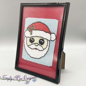 Santa 3.75 x 4.5 Beadwoven Artwork