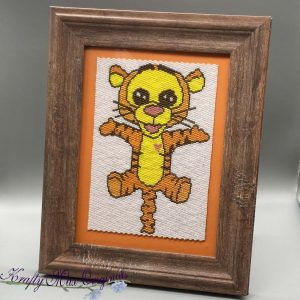 Tigger Beadwoven 5×7 Artwork by Krafty Max Originals