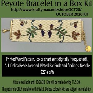Fall Flowers Bracelet in a Box October 2020 Kit