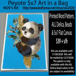 Panda 5×7 Artwork for November 2020 Kit in a Bag