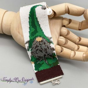 Knome Beadwoven SAMPLE Bracelet for Nov 2020 Kit