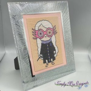 Luna Lovegood Kawaii Inspired Beadwoven 5×7 Artwork by Krafty Max Originals