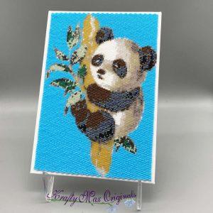Panda 5×7 Beadwoven Art Sample for Nov 2020 Kit