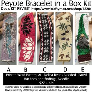 December REVISIT of Monthly Beadwoven Bracelet Kits