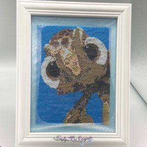 Squirt the Turtle Inspired Beadwoven 5×7 Artwork by Krafty Max Originals