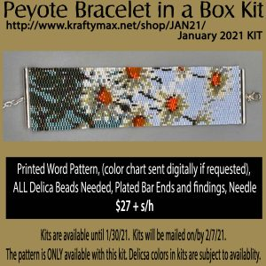 January 2021 Daisy Monthly Beadwoven Bracelet Kit