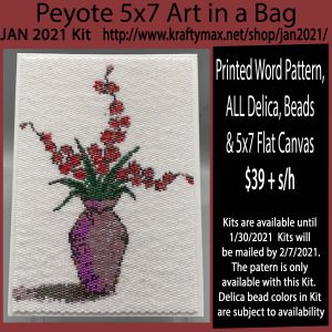 January 2021 5×7 Monthly Beadwoven Art Kit