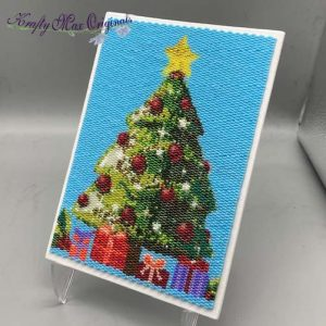 Christmas Tree Beadwoven 5×7 Artwork by Krafty Max Originals