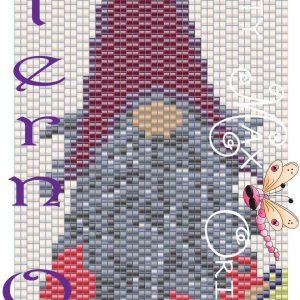 Crochet Knome Beadwoven Bracelet PATTERN ONLY